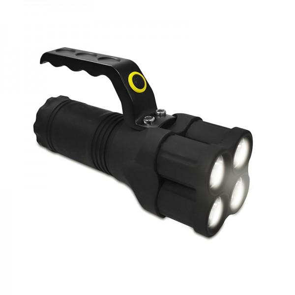 Taschenlampe mit 4 LEDs und Griff