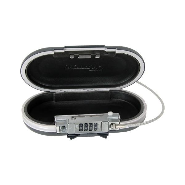 Safe Space Minisafe mit Kombination und Kabel in dunkelgrau