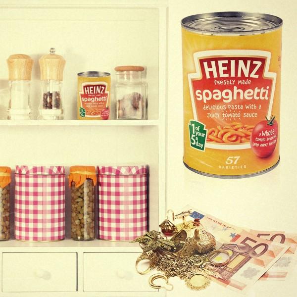 Safe (Ausführung: Konservendose) Heinz Spaghetti
