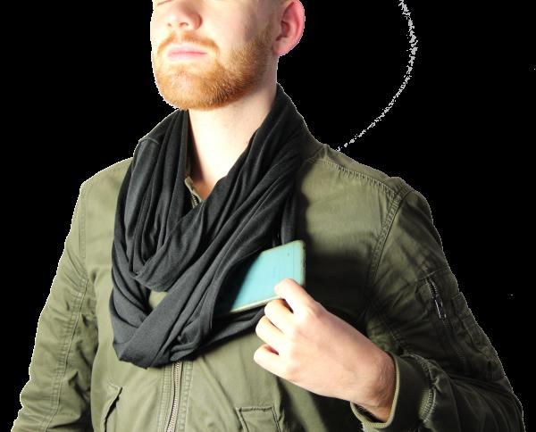 Loop- Schal mit sicherheitsfach / Hidden Safe