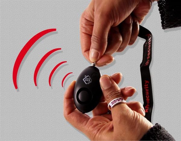 Schlüsselalarm inkl. LED-Licht - kh-security - schwarz oder pink Schwarz
