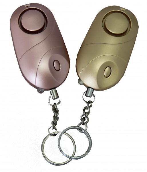 Taschenalarm inkl. LED roségold 2er Set