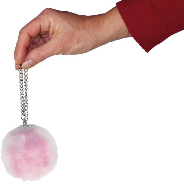 Handtaschen Alarm im trendigen Puschel Design - Zum eleganten Schutz für Unterwegs Pink
